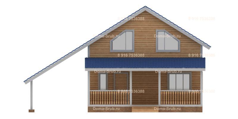 Проект КД-37 Каркасный дом 8х8