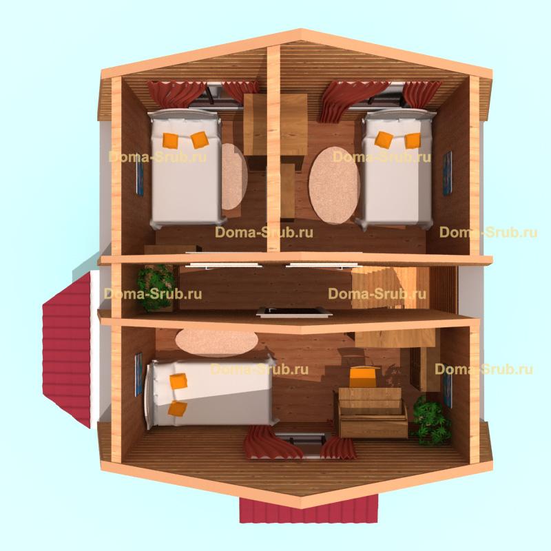 Проект ДБ-3 Дом из бруса *х*