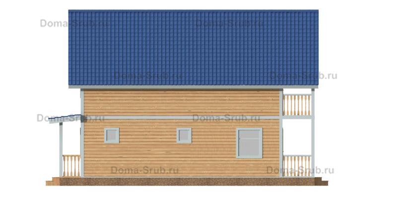 Проект КД-76 Каркасный дом 8х10