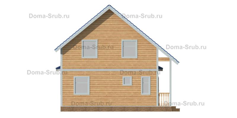 Проект ДБ-82 Дом из бруса 7,5х11