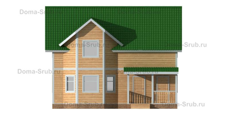 Проект ДБ-94 Дом из бруса 9.5х9.5