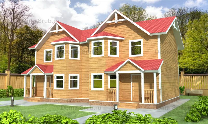 Проект ДБ-104 Дом из бруса 13,2x7,95