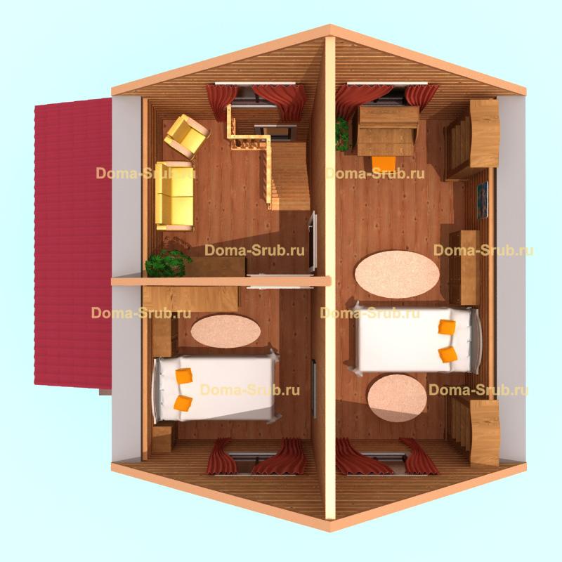 Проект ДБ-6 Дом из бруса *х*