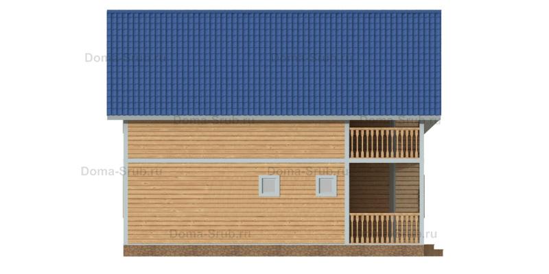 Проект ДБ-91 Дом из бруса 8,5х10