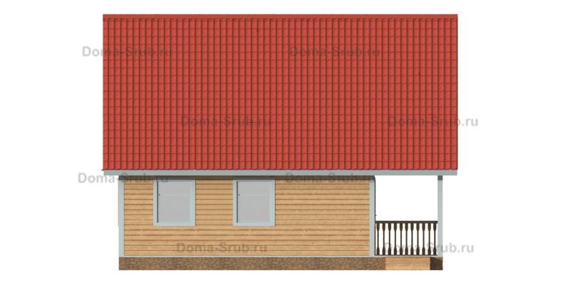 Проект ДБ-71 Дом из бруса 9х9,5