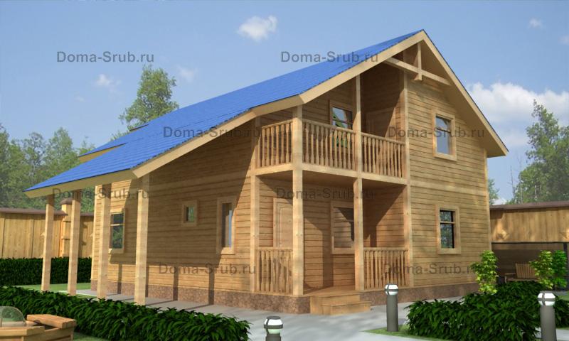 Проект ДБ-70 Дом из бруса 9х10