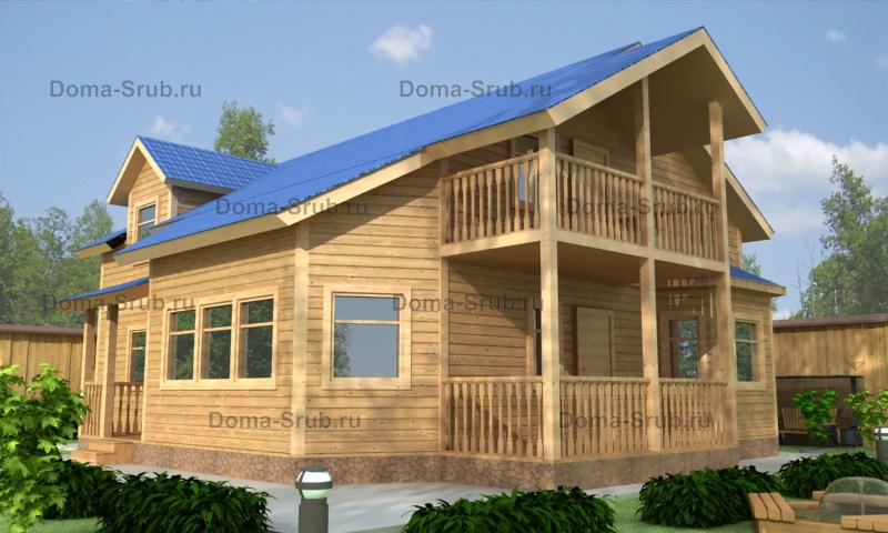 Проект КД-81 Каркасный дом 11х13
