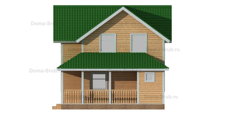 Проект КД-91 Каркасный дом 7,5х12