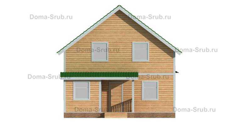 Проект ДБ-93 Дом из бруса 8х12