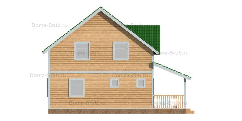 Проект ДБ-87 Дом из бруса 9х10,5