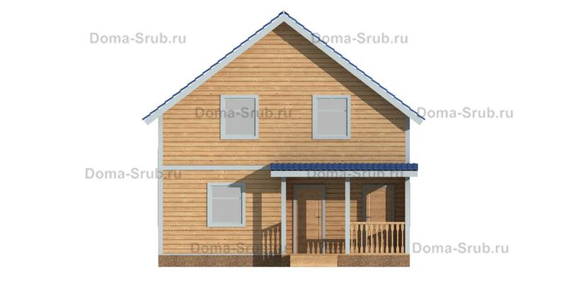 Проект ДБ-95 Дом из бруса 8х10