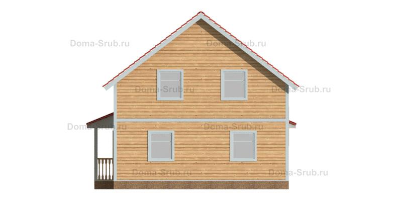 Проект КД-86 Каркасный дом 8х11