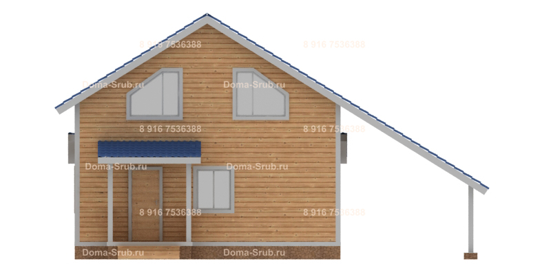Проект ДБ-15 Дом из бруса 8х10.50