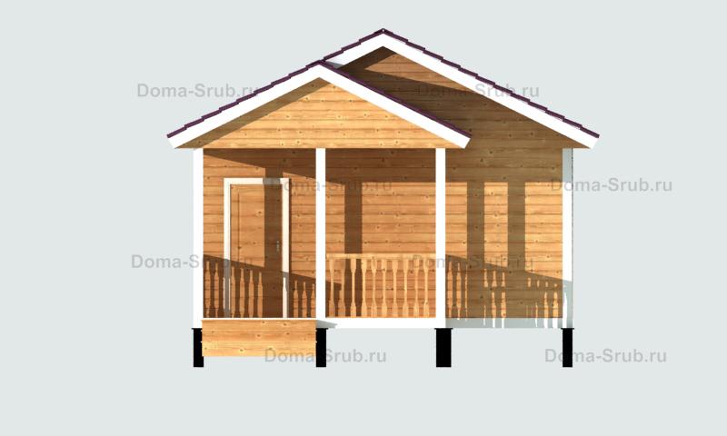 Проект КД-32 Каркасный дом 10,5х6