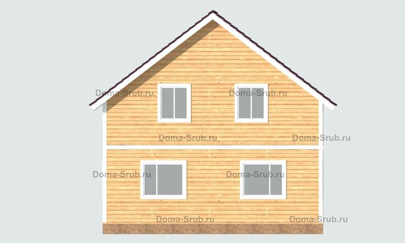 Проект ДБ-23 Дом из бруса 8x10