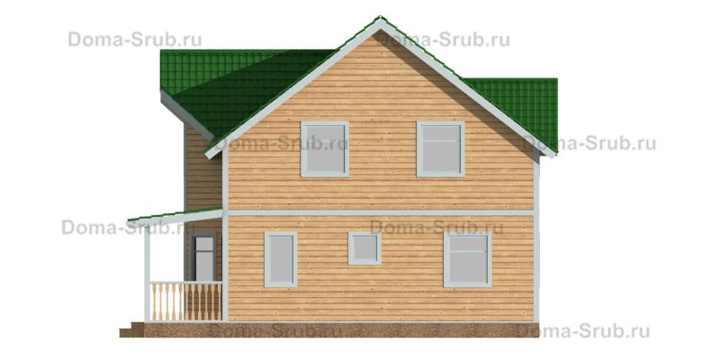 Проект ДБ-94 Дом из бруса 8х10