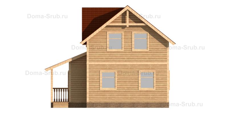 Проект ДБ-60 Дом из бруса 8.5х8.5