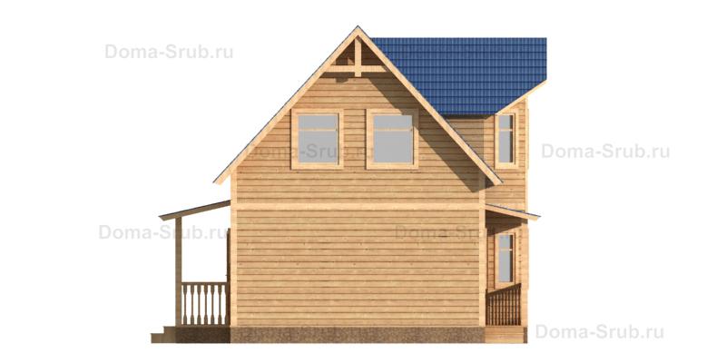 Проект КД-73 Каркасный дом 7х8