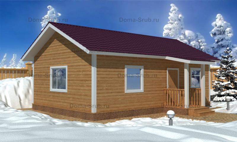 Проект КД-39 Каркасный дом 6х9
