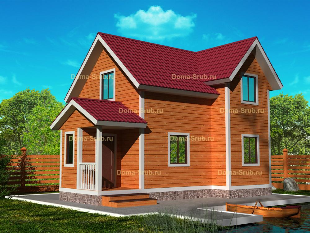 Проект КД-30 Каркасный дом 6х7