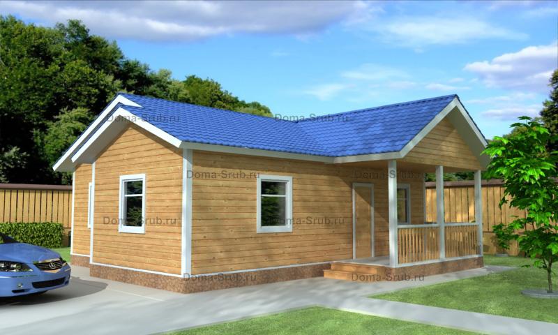 Проект ДБ-105 Дом из бруса 10х10