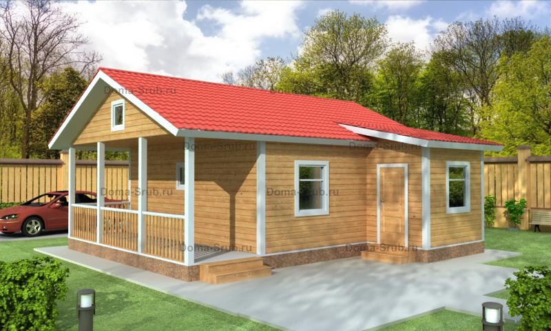 Проект ДБ-106 Дом из бруса 7х9