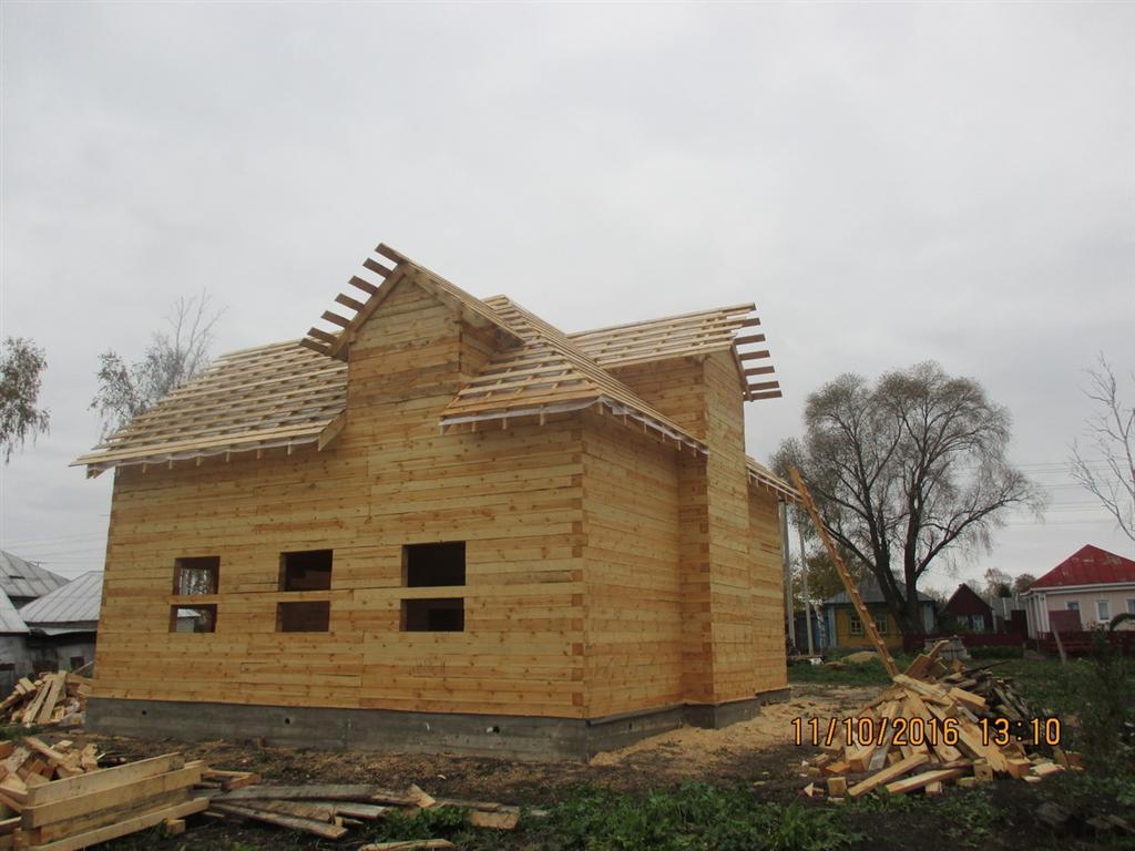 Отзыв по строительству дома из бруса, проект ДБ-32
