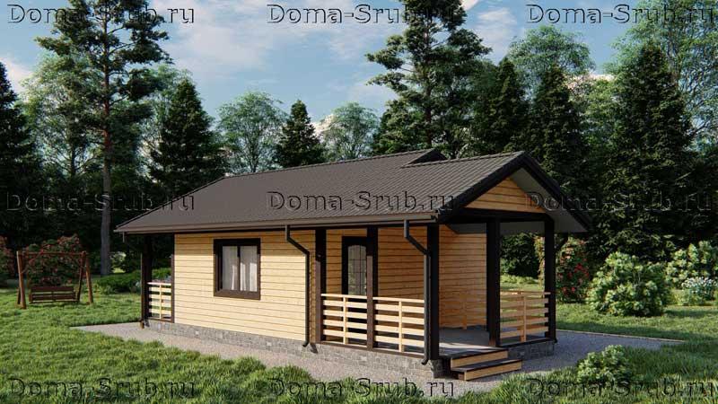Проект ДБ-7 Дом из бруса 6х10.5