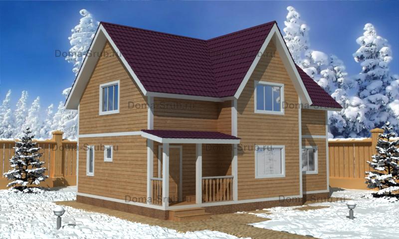 Проект ДБ-22 Дом из бруса 7х10