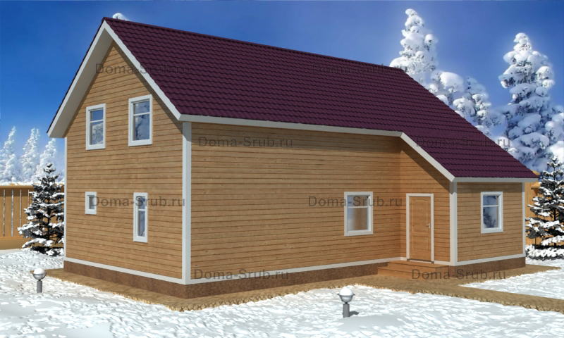 Проект ДБ-21 Дом из бруса 7х12