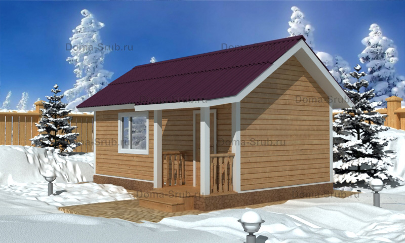 Проект КД-40 Каркасный дом 7х4