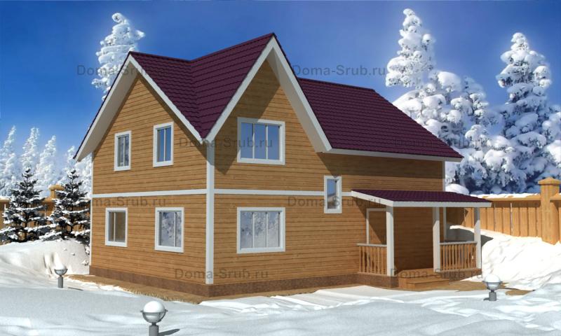 Проект КД-34 Каркасный дом 8х10