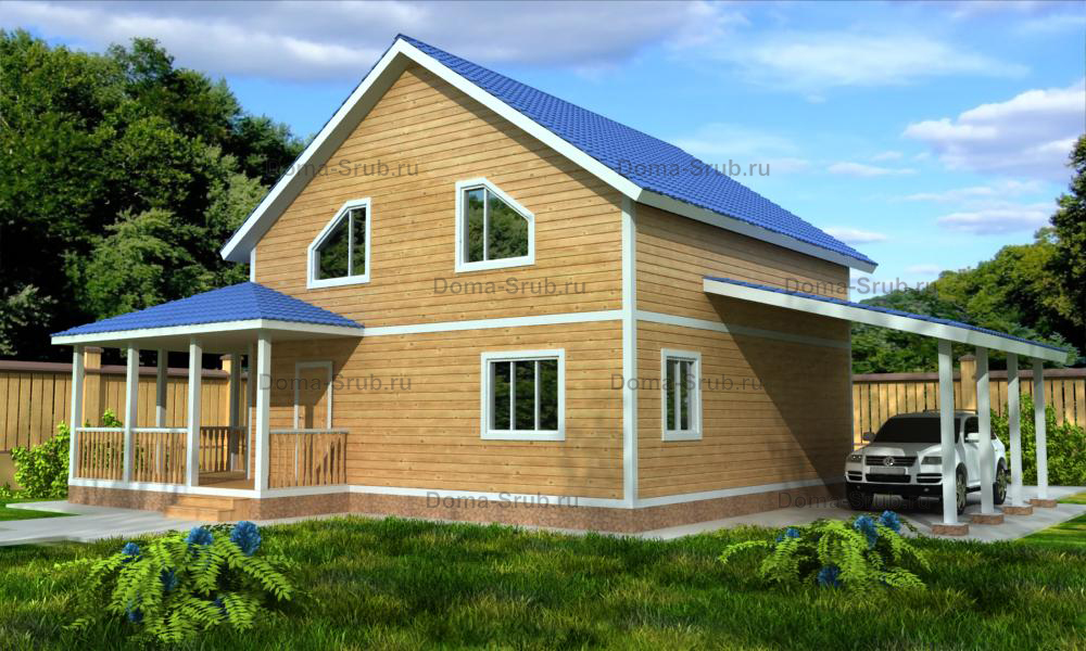 Проект КД-41 Каркасный дом 9х9