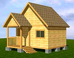 Проект ДБ-113 Дом эконом-класса 4x5