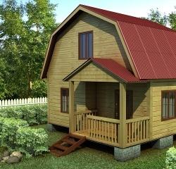 Проект ДБ-112 Дом эконом класса 4x5