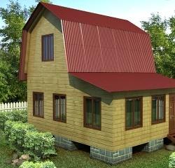 Проект ДБ-110 Дом эконом класса 5x6
