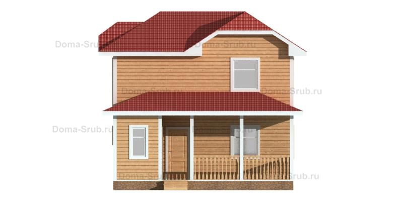Проект КД-89 Каркасный дом 8,5х9