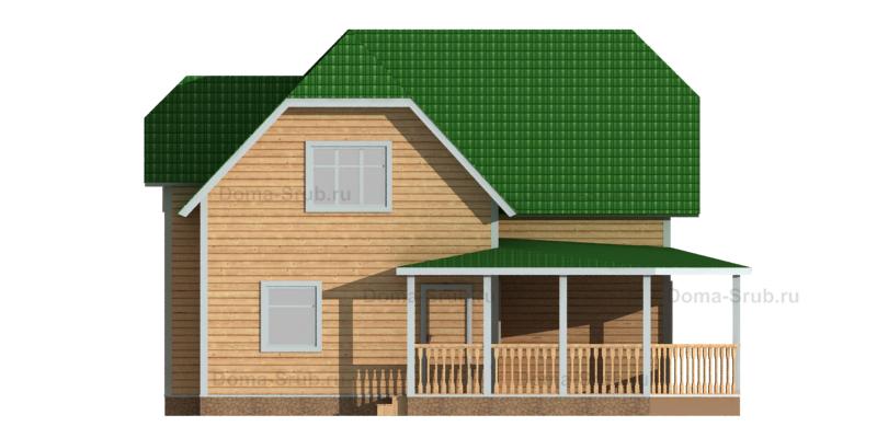 Проект ДБ-77 Дом из бруса 9,5х9,5