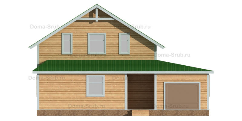 Проект КД-93 Каркасный дом 11х11,5