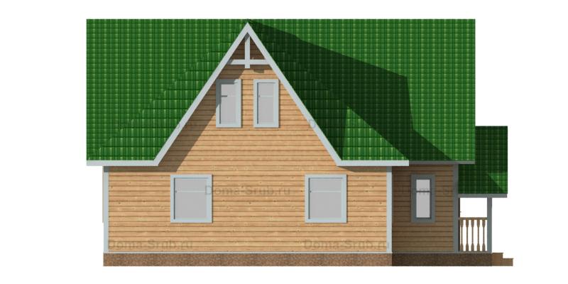 Проект ДБ-76 Дом из бруса 8,5х10