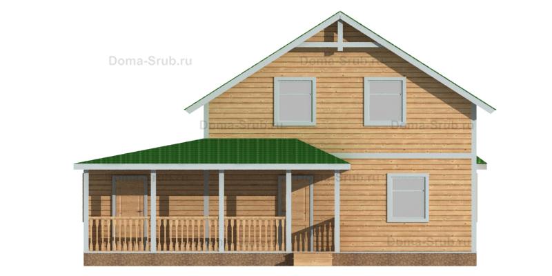 Проект ДБ-92 Дом из бруса 11х11,5