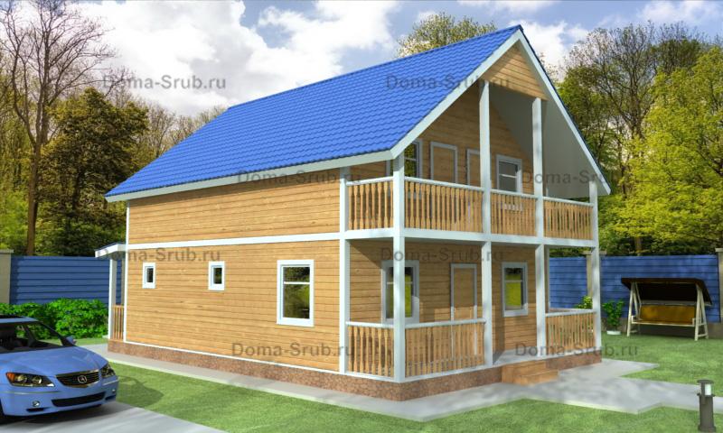 Проект КД-96 Каркасный дом 8х10