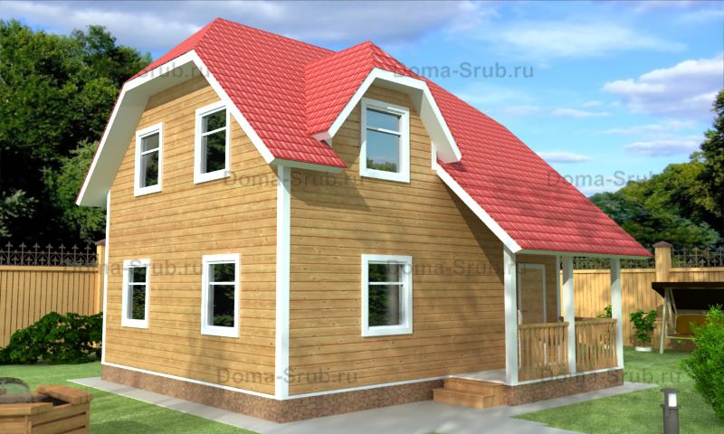 Проект КД-99 Каркасный дом 7х8