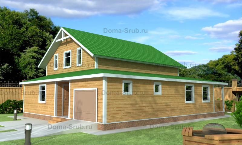 Проект ДБ-92 Дом из бруса 13х11,5