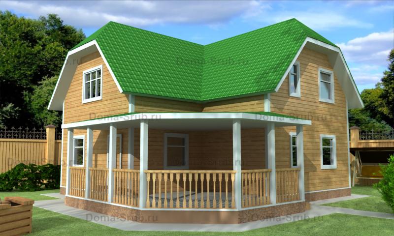 Проект КД-79 Каркасный дом 9,5х9,5