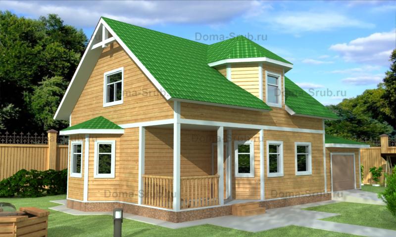 Проект ДБ-78 Дом из бруса 8х9