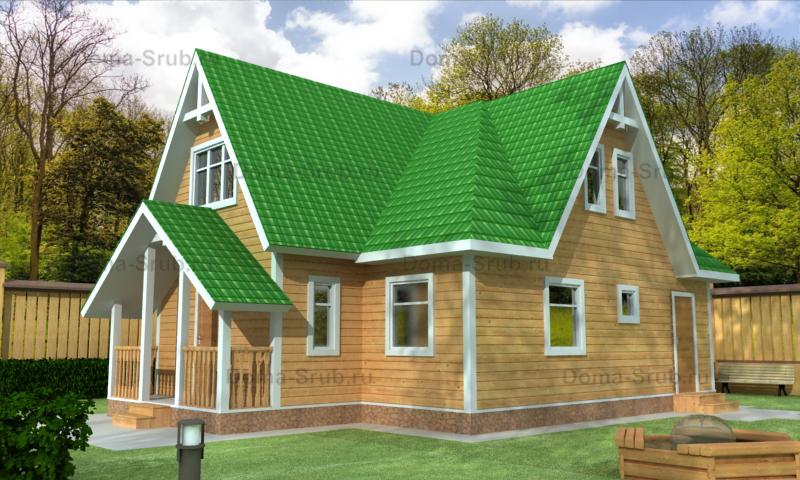 Проект КД-78 Каркасный дом 8,5х10