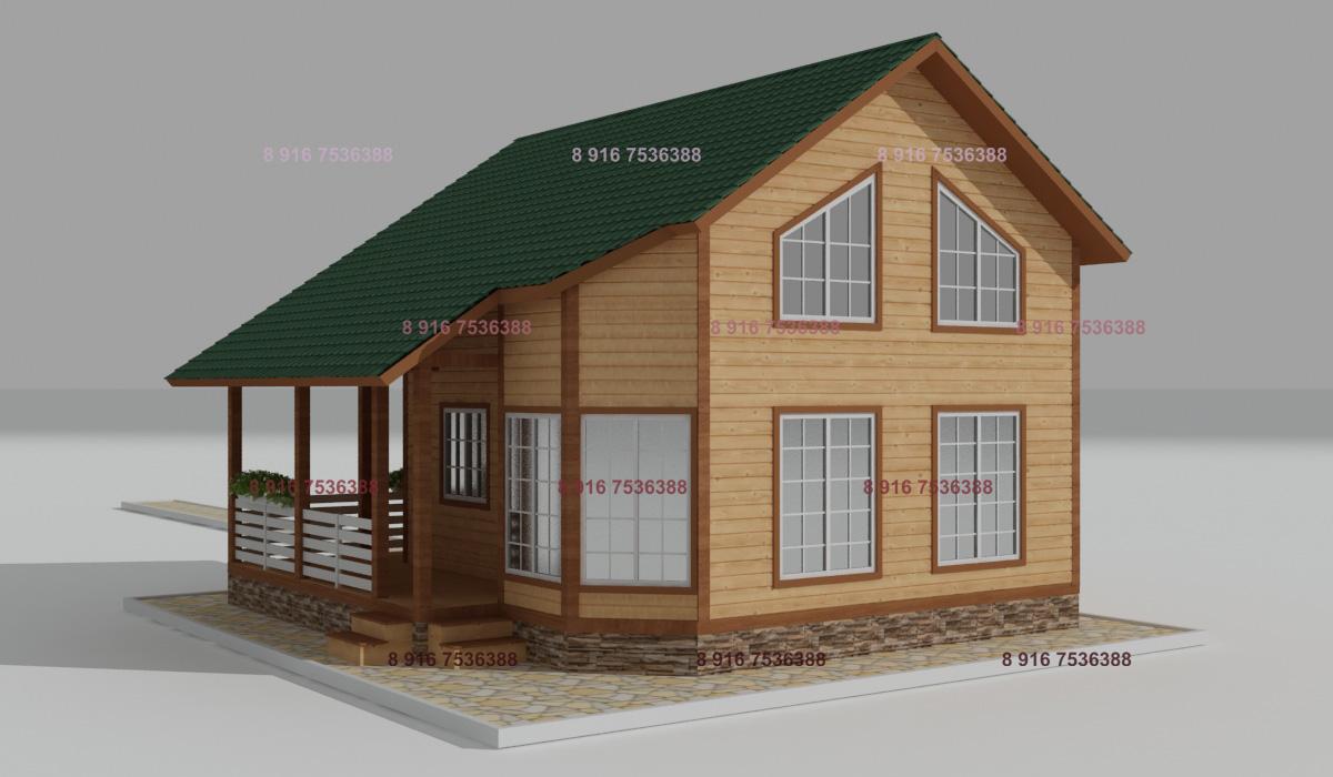 Проект ДБ-115 Дом из бруса 8.5х8.5