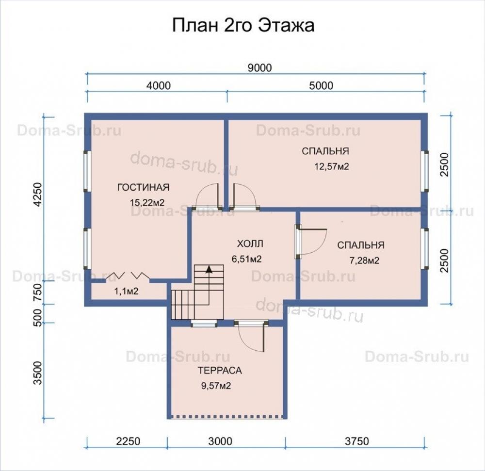 Проект — ДБ2 Дом из бруса 6х9