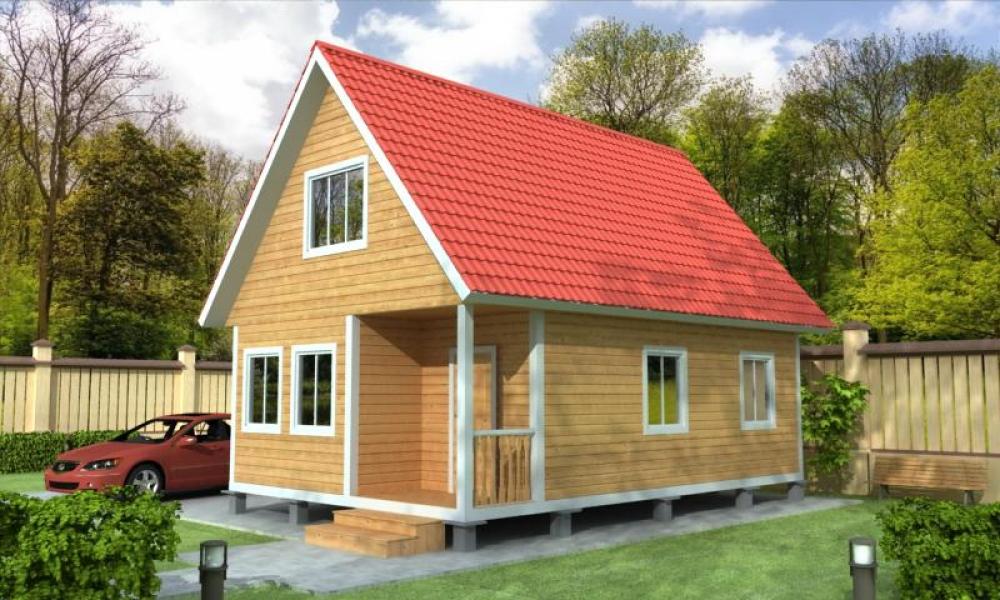 Проект ДБ-128 Дом из бруса 6х9